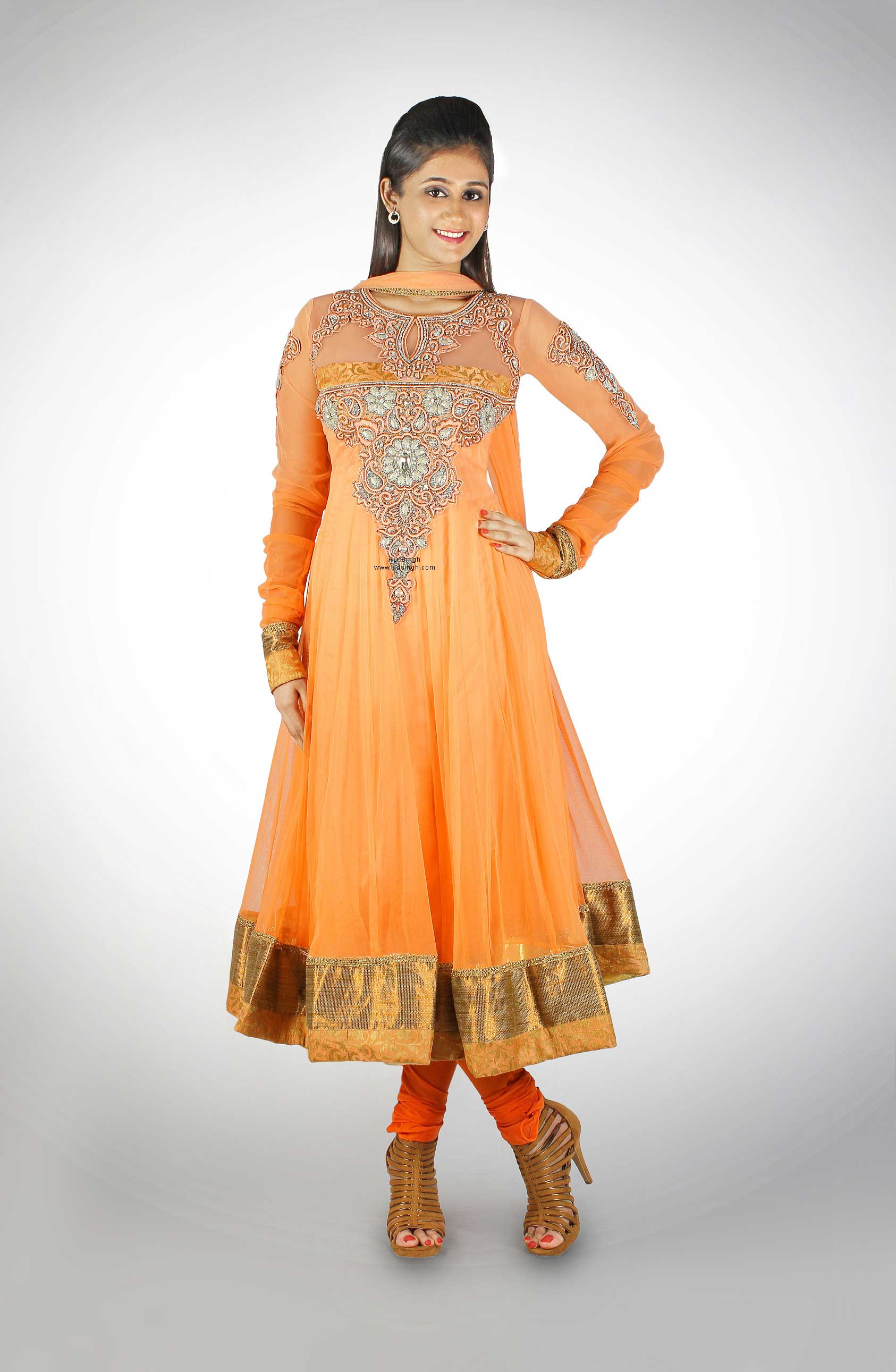 sheer-neck-long-anarkali