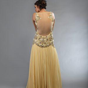 Ivory Prom Dress 2014 back