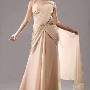 Gold_stitched_gown_saree