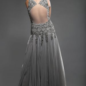 Grey_prom_dress_2015_back