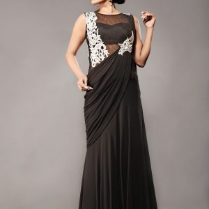 Sexy_Stitched_gown_saree