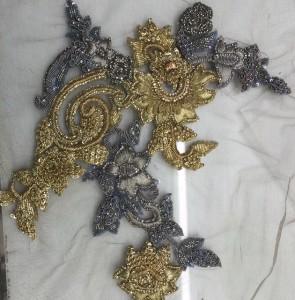 Antique gold silver motif