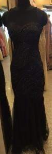 Black Fish cut gown