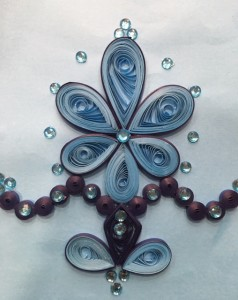 Quilling embroidery sample 2