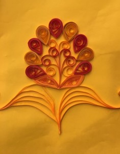 Quilling embroidery sample 3