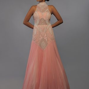 Baby-Pink-Halter-Gown-Front