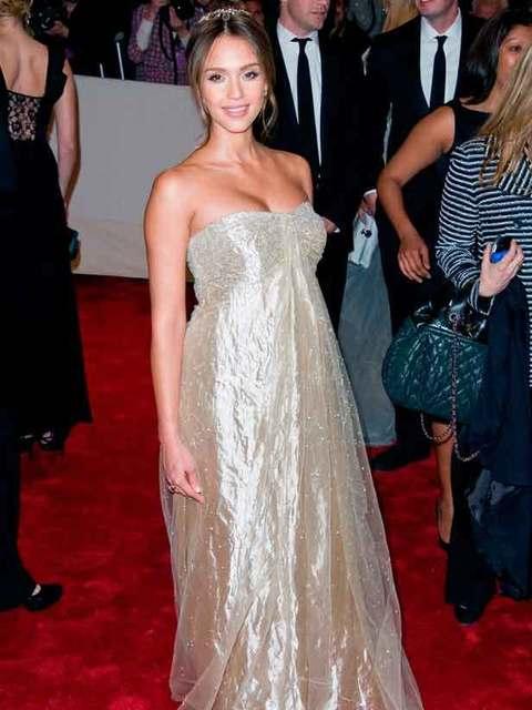 Jessica Alba at the MET ball
